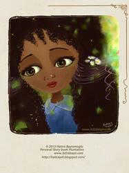 Cartoon girl portrait by eydii