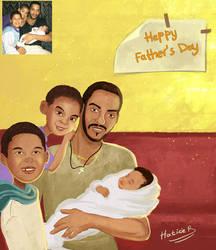 Father's days Portrait commission by eydii