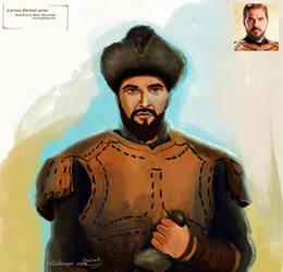 Ertugrul Gazi portrait painting by eydii