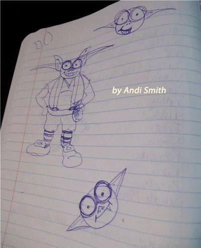 blue goblin paintig by Andii by eydii