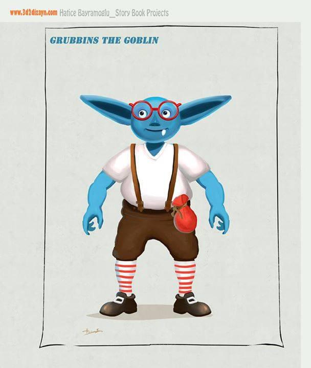 Blue Goblin Paintig1 By Eydii by eydii