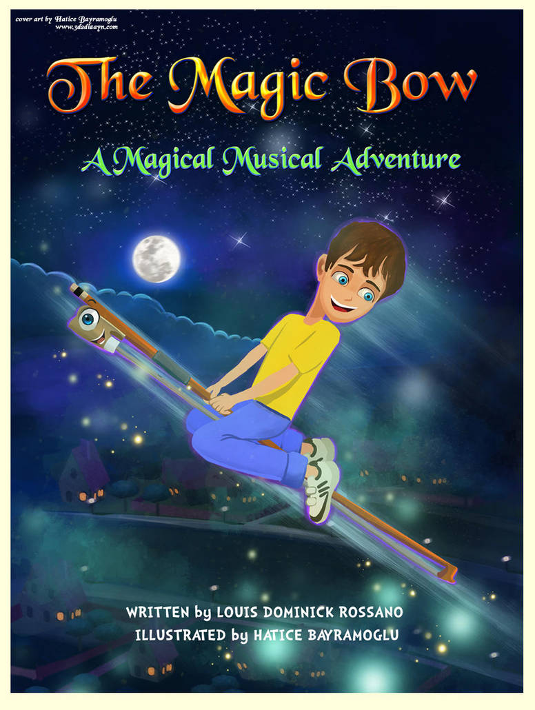 The Magic Bow book cover art design by eydii by eydii