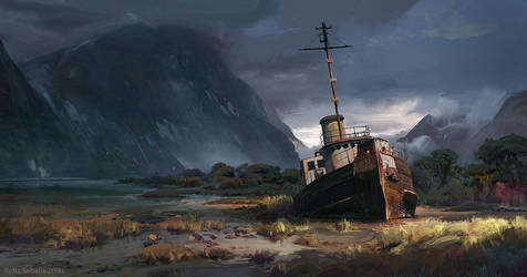 Shipwreck by MrFloki