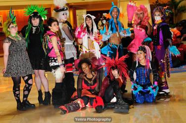 Rave fashion show group shot. by Kamikazemiko