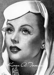 Hedy Lamarr by Karentownsend