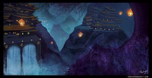 Sky Lanterns by rodriguesart