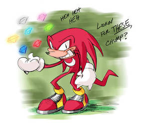 VW: Chuckles...I mean Knuckles by thweatted
