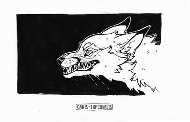 grin- Inktober 5 by Canis-Infernalis
