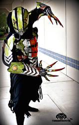 The Glitch rogue reaper LIGHT UP cyberpunk costume by TwoHornsUnited