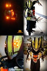 The Glitch Cyberpunk rogue reaper LIGHT UP costume by TwoHornsUnited