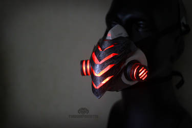 The Biolancer Cyberpunk LED Respirator by TwoHornsUnited