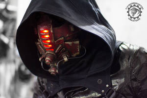 Red Tremor - Cyberpunk LED mask by TwoHornsUnited