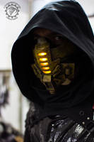 Xenogeist ''Terra'' Variant cyberpunk LED mask by TwoHornsUnited