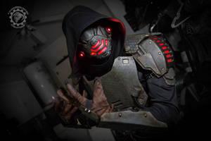 Hex Omega - RGB LED light cyberpunk armor by TwoHornsUnited