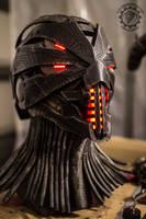 Erebus - Cyberpunk dystopian light up helmet by TwoHornsUnited
