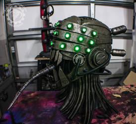 Nightmare Fuel cybernetic monster Helmet by TwoHornsUnited