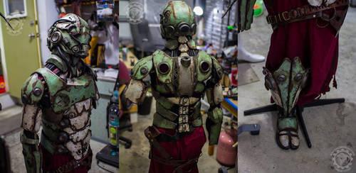 Naomasa - The robot Samurai WIP by TwoHornsUnited