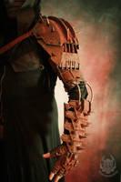 Marauder (full arm) rusty post-apoc armor by TwoHornsUnited