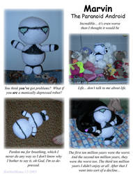 Marvin the Paranoid Android by KnittinMama