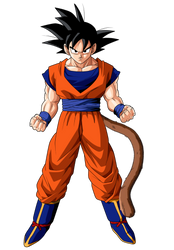 Son Goku with tail and orange Gi by Gerex94