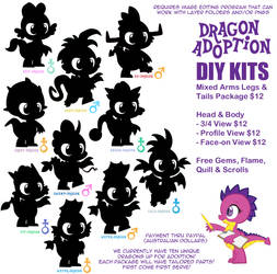 Dragon Adoption Kits by Trotsworth