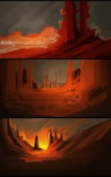 Orange Landscapes by DK19