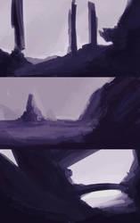 Dark Purple Landscapes by DK19