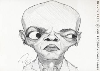 Samuel L. Jackson sketch by Fuggedaboudit