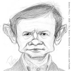 Martin Freeman Caricature by Fuggedaboudit