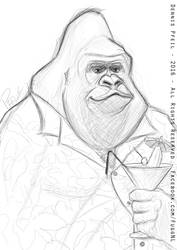 Gorilla on holiday by Fuggedaboudit