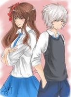 KH: Azuma and Amaya by Mochappuccino