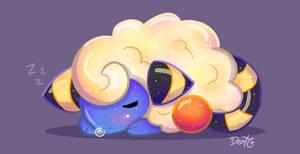 Sleepy Mareep by DP-draws-stuff