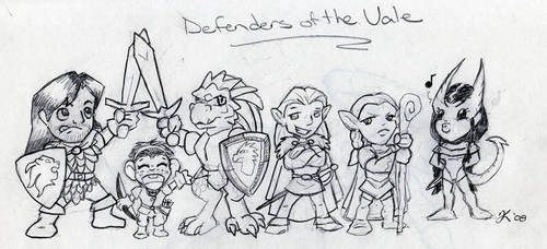 Chibi Defenders of the Vale by Deltethnia