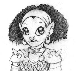 Cute Half-Orc by Deltethnia
