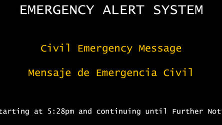 Civil Emergency Message by bobby165324