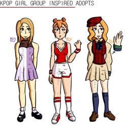$10 KPop Girl Group Inspired Adopts (OPEN) by MysticLu