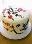 Cherry Blossom Sumi-e cake by KiwiAltoids