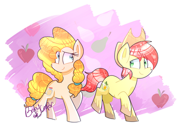 Pear Butter and Bright Mac by Lynchristina