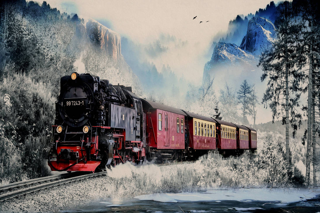 Winters Train by MarquisAmon