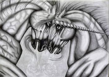 Warring Unicorns by TheRaevyn13