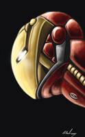 Iron Man: Head2 by shiprock