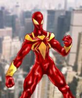 Iron-Spidey by kuraiz