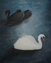 Swans (Labute) by Dragil