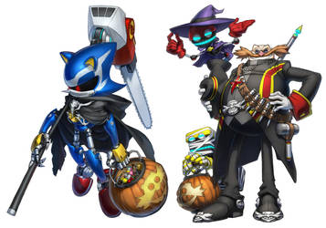 Halloween Metal, Dr.Eggman by inualet