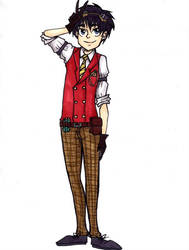 steampunk Robin-DC by tanuki15
