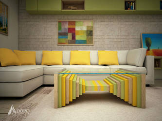 Product Design of Coffee Table - Tri-ton by adorodesign