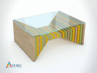 Product Design Coffee Table Studio Rendering by adorodesign
