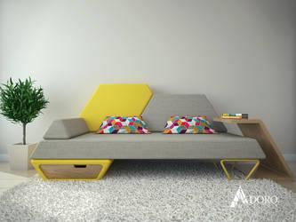 Pezio Sofa by adorodesign