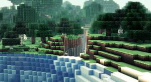 Minecraft - Une crevasse consequente - II by AleksCube