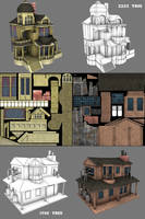 Low poly Games Building by Conglaci